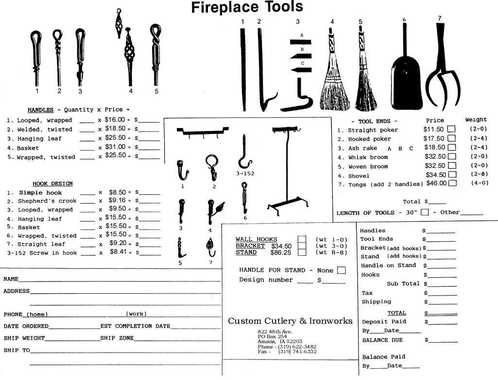 custom cutlery assorted handcrafted ironwork
